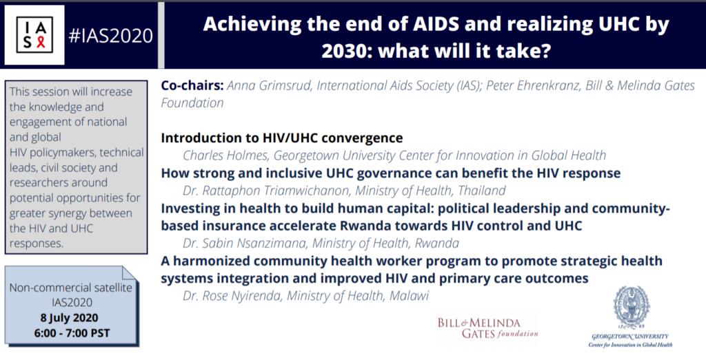 Agenda for IAS UHC session